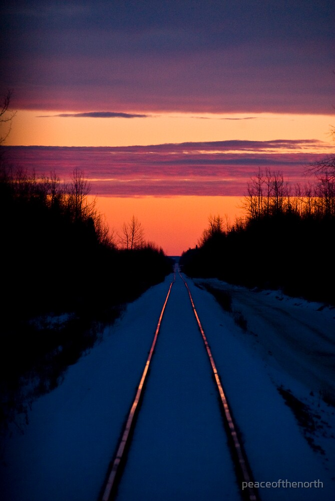 Sunrise Tracks  by peaceofthenorth