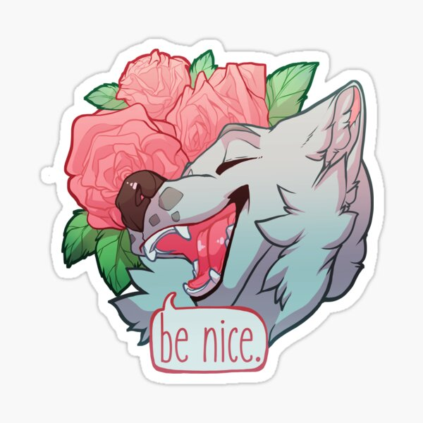 """Be Nice"" Sticker"