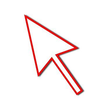 Cursor Arrow Mouse Red Line by hlehnerer