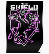 The Shield Hounds Pink Poster