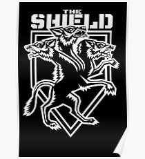 The Shield Hounds White Poster