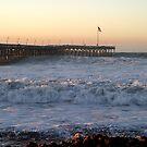 Ventura Ocean Wave Storm Pier by Henrik Lehnerer