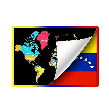 flannels and blouses with the world map and flag of venezuela by oscarmega