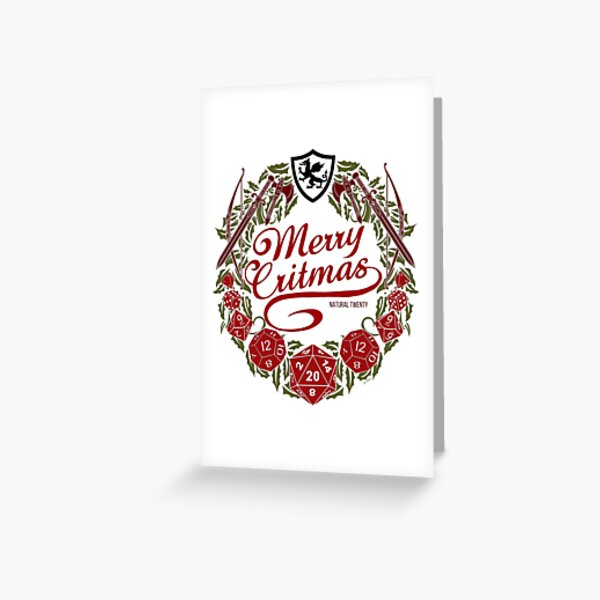 Merry Critmas - Colour Version Greeting Card