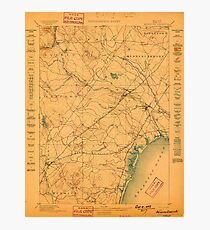 Maine USGS Historical Map Kennebunk 807535 1898 62500 Photographic Print