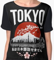 Tokyo - 'I don't speak Japanese': White Version Chiffon Top