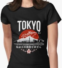 Tokyo - 'I don't speak Japanese': White Version Women's Fitted T-Shirt
