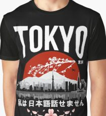 Tokyo - 'I don't speak Japanese': White Version Graphic T-Shirt