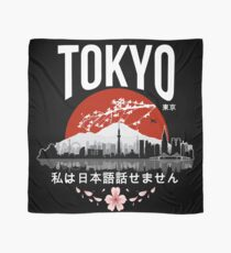 Tokyo - 'I don't speak Japanese': White Version Scarf