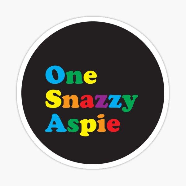 One Snazzy Aspie Sticker