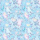 Polar Bear Dance Blue by Edward Huse