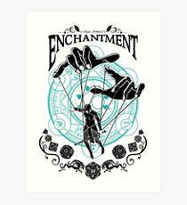 Enchantment - D&D Magic School Series : Black Art Print