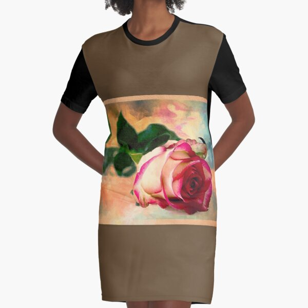 This Rose is For You Graphic T-Shirt Dress