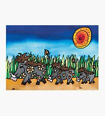Warthogs taking a walk on the wildside! Photographic Print