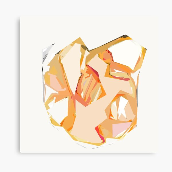 Golden Heart Abstract Art Print Canvas Print