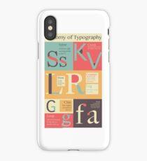 Anatomy of Typography iPhone Case/Skin