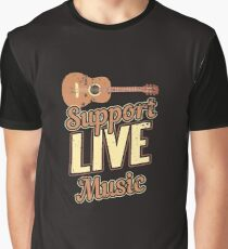 Support Live Music Musician Band Indie Retro Graphic T-Shirt