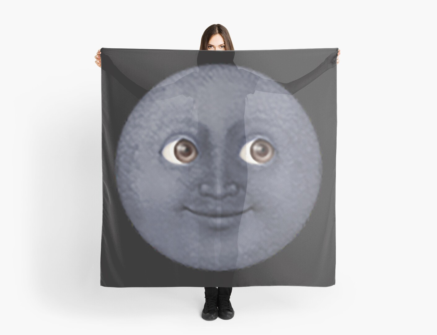 quotblack moon emojiquot scarves by stephaniear18 redbubble