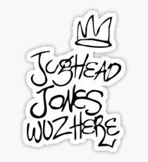 Jughead Jones Was Here Tshirt Sticker