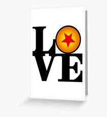 Love Dragon Ball Greeting Card