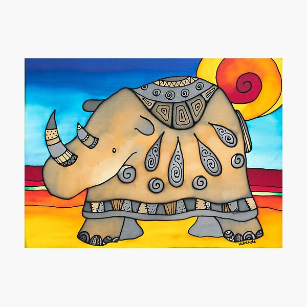 Ever elegant Ethel, the most flamboyant rhino Photographic Print