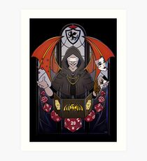 Lámina artística Dungeon Master - Vitrales