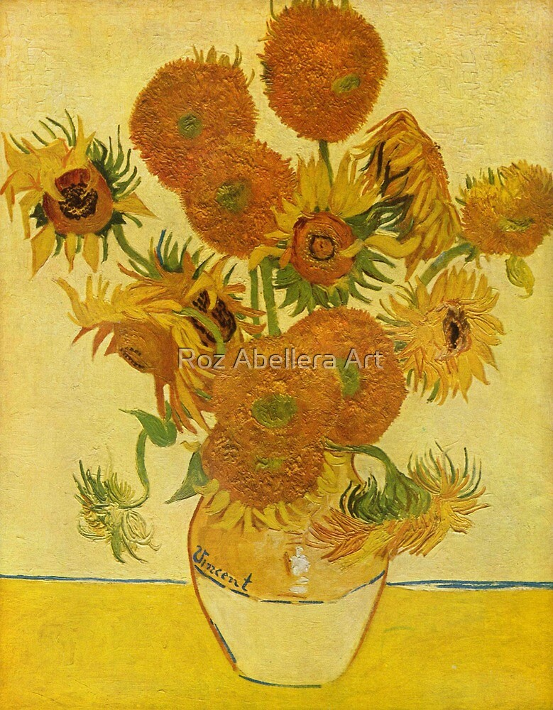 'Still Life with Sunflowers' by Vincent Van Gogh (Reproduction) by Roz Abellera