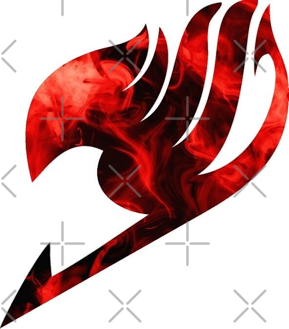 Fire red fairy tail emblem by chiefwizart redbubble - Fairy tail emblem ...