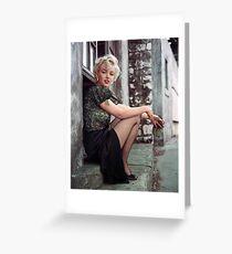 marilyn monroe-portrait Greeting Card