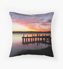 Squids Ink Jetty Throw Pillow