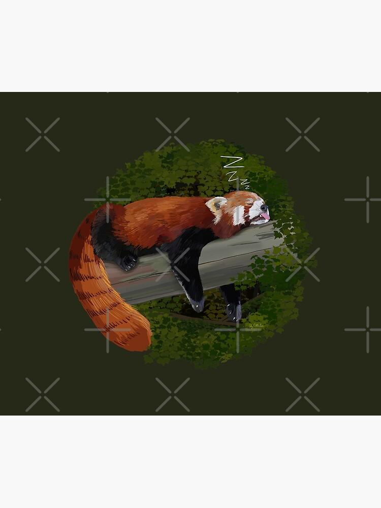 Sleepy Red Panda  by Milmino