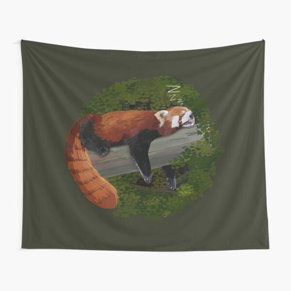 Sleepy Red Panda  Tapestry