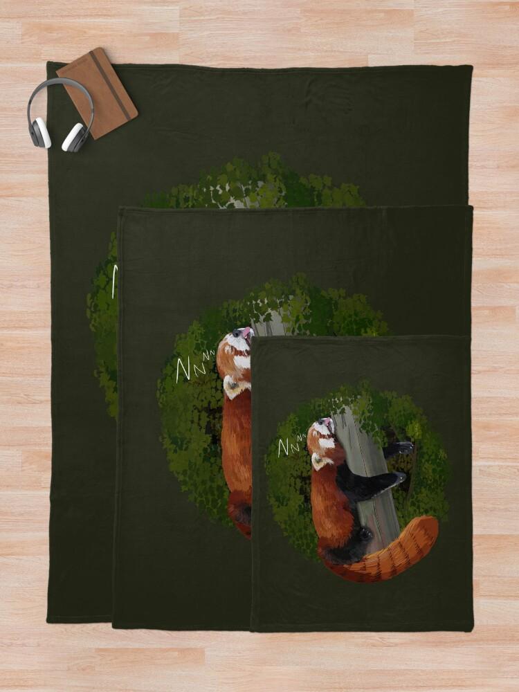Alternate view of Sleepy Red Panda  Throw Blanket