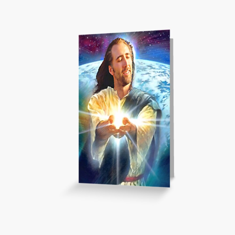 jesus cage Greeting Card