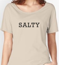 Salty - black text Women's Relaxed Fit T-Shirt
