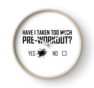 too much pre workout stickers by djbalogh redbubble