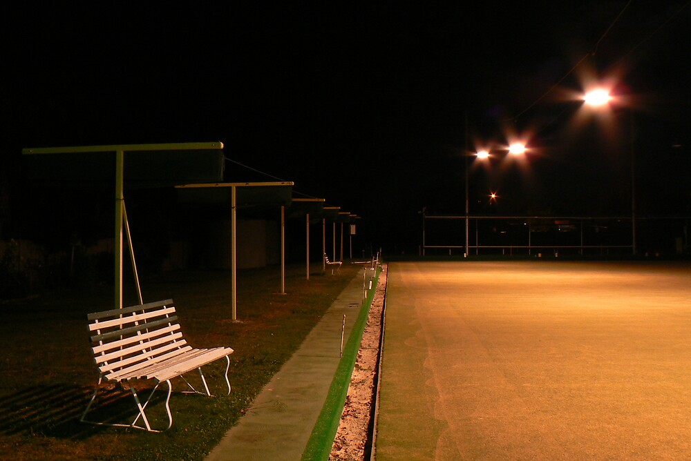 Mansfield Lawn Bowls at Night. by Jaf76