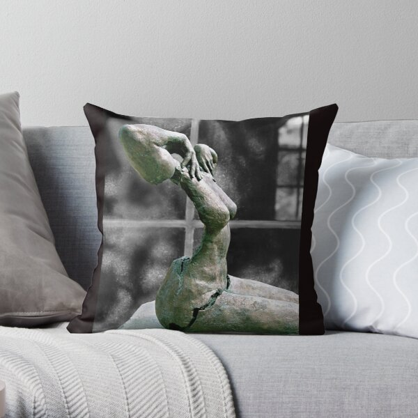 Incomplete Woman Throw Pillow