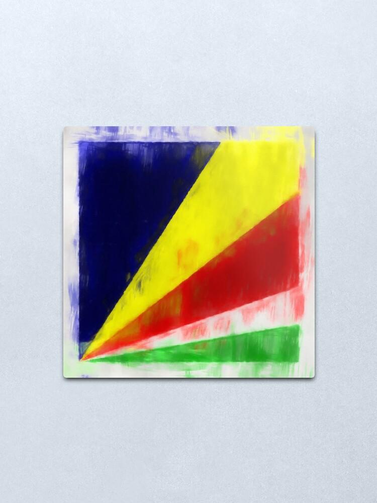 Alternate view of Seychelles Flag Reworked No. 2, Series 1 Metal Print