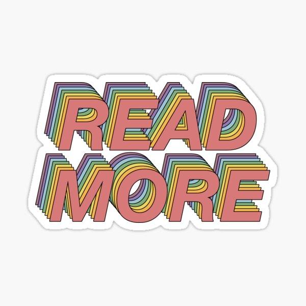 Read more! Sticker