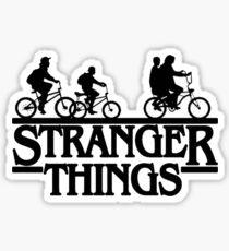 Stranger Things Bike Tshirt Sticker