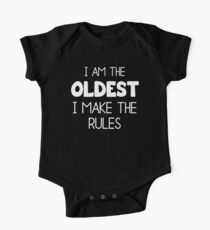 Matching Siblings Shirts - I Am The Oldest I Make The Rules One Piece - Short Sleeve