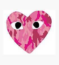 Pink camouflage Come Des Garcons Photographic Print
