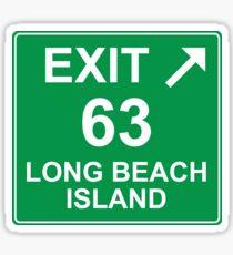 Exit 63 Long Beach Island Sticker