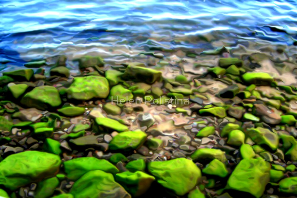 Green Ocean Rock by Helen Christie