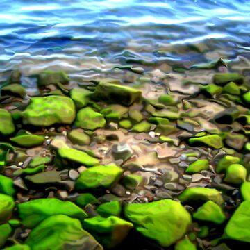 Green Ocean Rock by Orangemoth