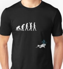 Evolution of Man Funny Scuba Diving Unisex T-Shirt