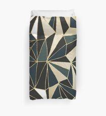 New Art Deco Geometry - Emerald Green & Gold Duvet Cover