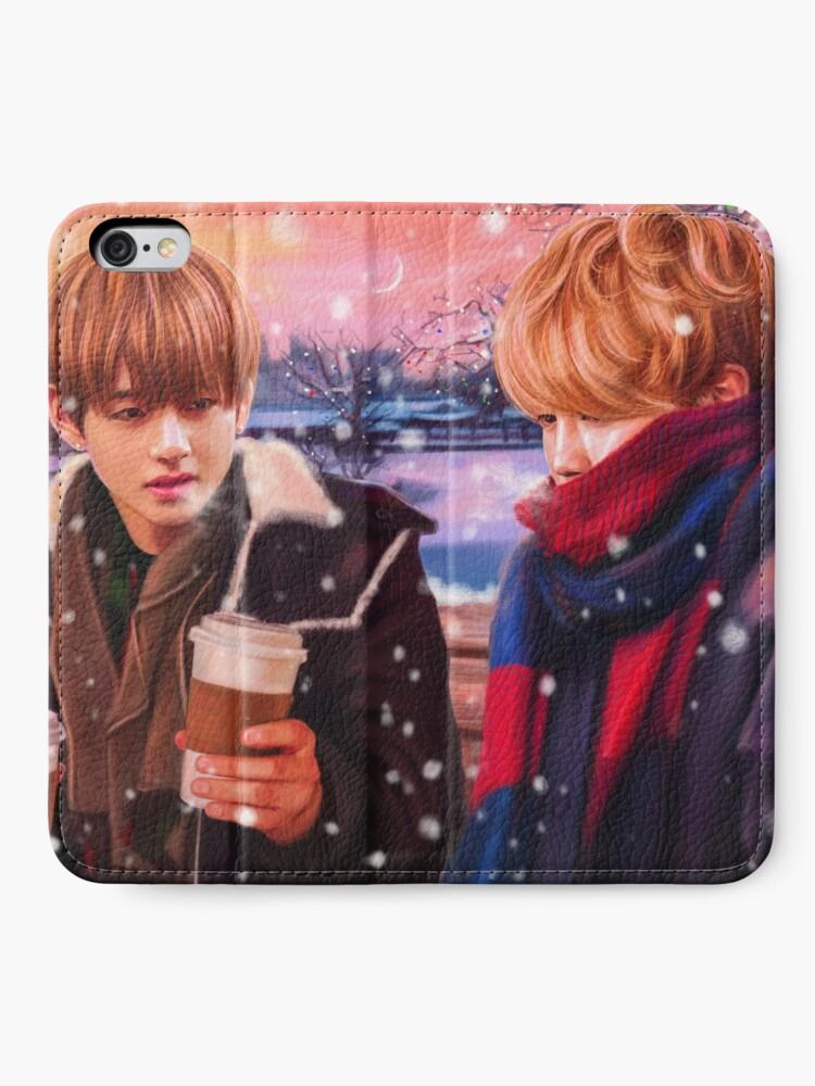 Alternative Ansicht von Jimin & Taehyung Fanart iPhone Flip-Case