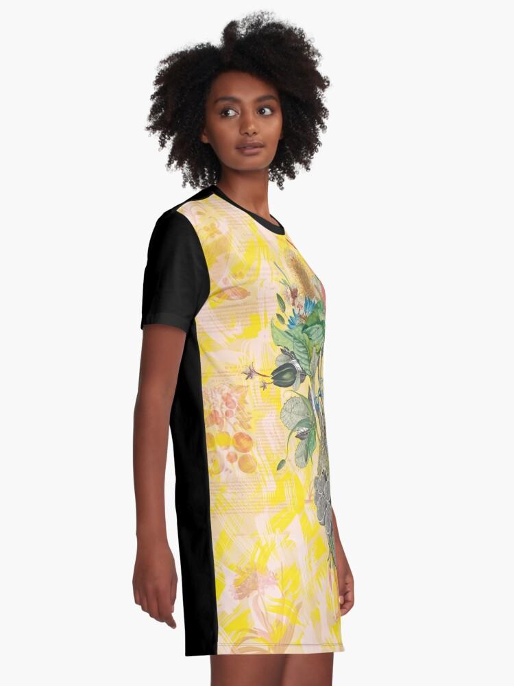 Alternative Ansicht von Organisches Herz T-Shirt Kleid